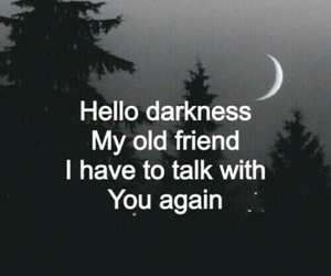Darkness, quote, and sad image