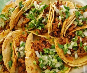 delicious, meat, and taco image