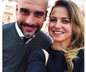 fc barcelona, pep guardiola, and anna lewandowska image