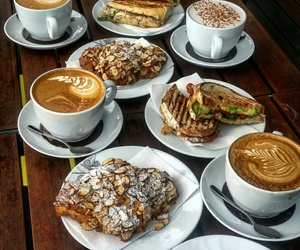cappuccino, caffè, and breakfast image