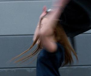dancing, girl, and hair image