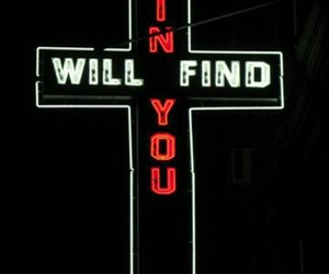 sin, cross, and neon image