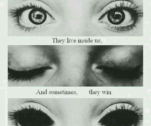 black and white, eyes, and quotes image