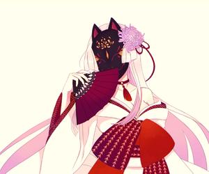 anime girl, beautiful, and fox image