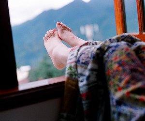 feet, photography, and window image