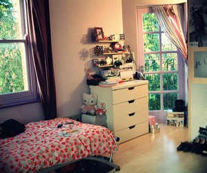 bedroom, hello kitty, and lovely image