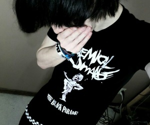 emo boy, my+chemical+romance, and the+black+parade image