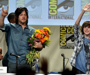 norman reedus, the walking dead, and chandler riggs image