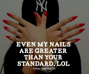 attitude, classy, and nails image