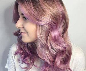 hair, lilac, and pastel image