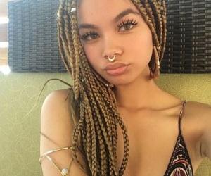 beautiful, summer, and braids image