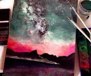 art, drawing, and sky image