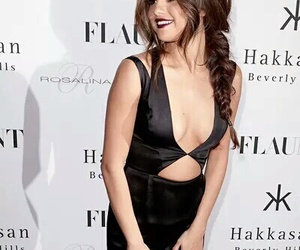 selena gomez, selena, and black image