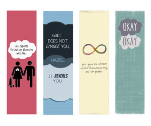 book, the fault in our stars, and bookmarks image