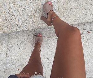 fashion, heels, and legs image