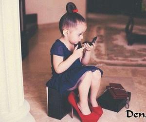 girl, kid, and high heels image
