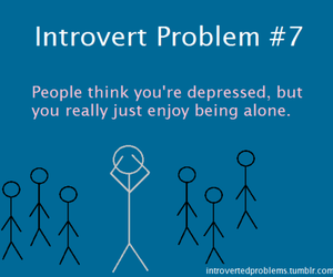 alone, introvert, and lonely image