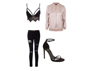 outfits, Polyvore, and saintlaurent image