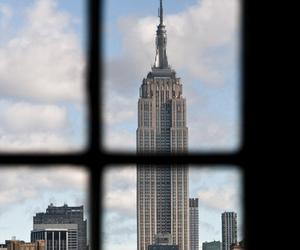 city, new york, and window image