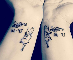 goals, sisters, and tatto image