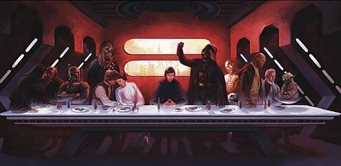 star wars, last supper, and darth vader image