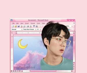 exo, lockscreen, and sehun pink image