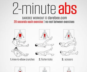 fitness, abs, and workout image