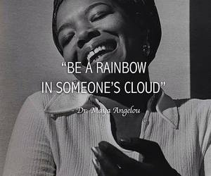 cloud, maya angelou, and quotes image
