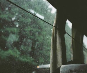 rain, bus, and nature image