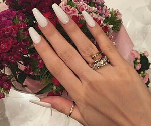 nails, flowers, and luxury image