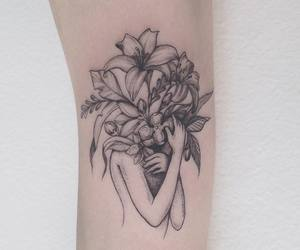 tattoo, fashion, and flowers image