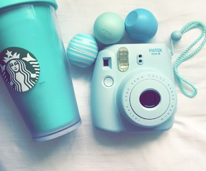 starbucks, blue, and eos image
