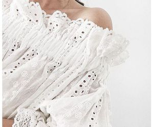 blouse, fashion, and white image