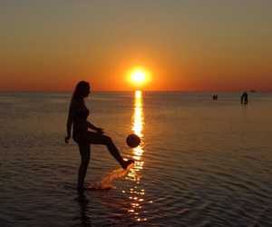 football, sea, and soccer image