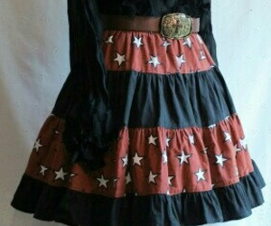 star skirt, country western fashion, and dance skirt image