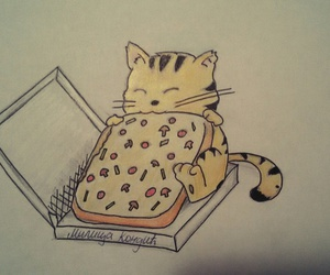 pizza cat food drawing image