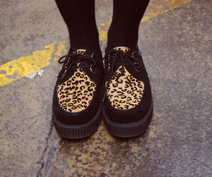 shoes, leopard, and creepers image