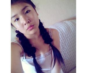 asian girl, cute, and hair image