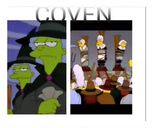 coven, hotel, and simpsons image
