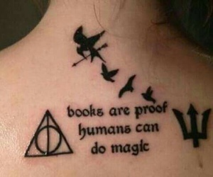 harrypotter, Tattoos, and thehungergames image