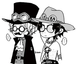 one piece, portgas d ace, and sabo image