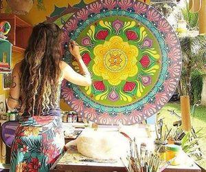 hippie, mandala, and good vibes image