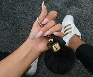 nails, adidas, and shoes image