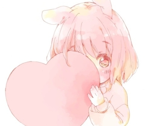 anime, cute, and heart image