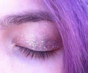 purple, hair, and grunge image