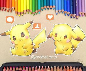 pikachu, pokemon, and art image