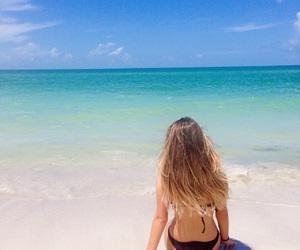 beach, bikini, and summer image