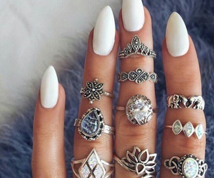 nails, rings, and fashion image