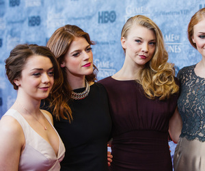 game of thrones, maisie williams, and rose leslie image