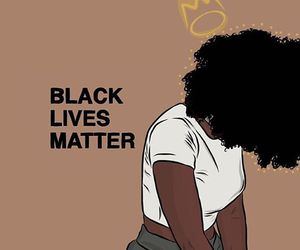 black and black lives matter image